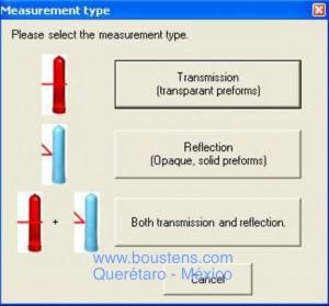 Analizador colres preformas en linea P7-05