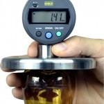 equipo de medicion de fondo de botella