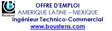 Offre d'emploi Mexique Ingénieur Technico Commercial