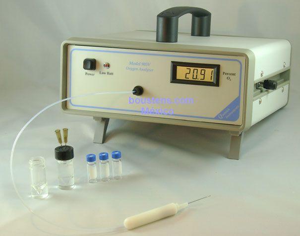 Medidor de oxigeno an lizador de o2 en el espacio de cabeza for Analizador de oxigeno