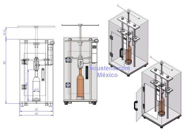 Probador de carga axial botellas