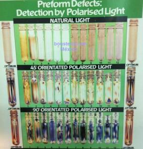 detectos preformas bajo luz polarisada