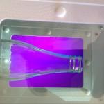 polariscopio botella de vidrio